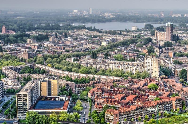 Vista aerea di Rotterdam del nord immagine stock