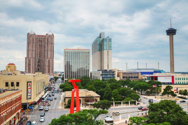 Vista aerea di San Antonio immagine stock libera da diritti