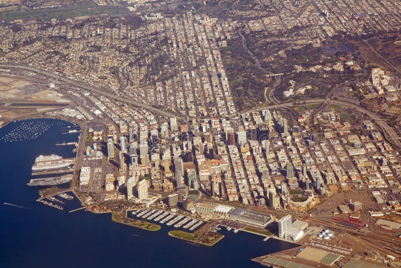 Vista aerea di San Diego, California fotografia stock