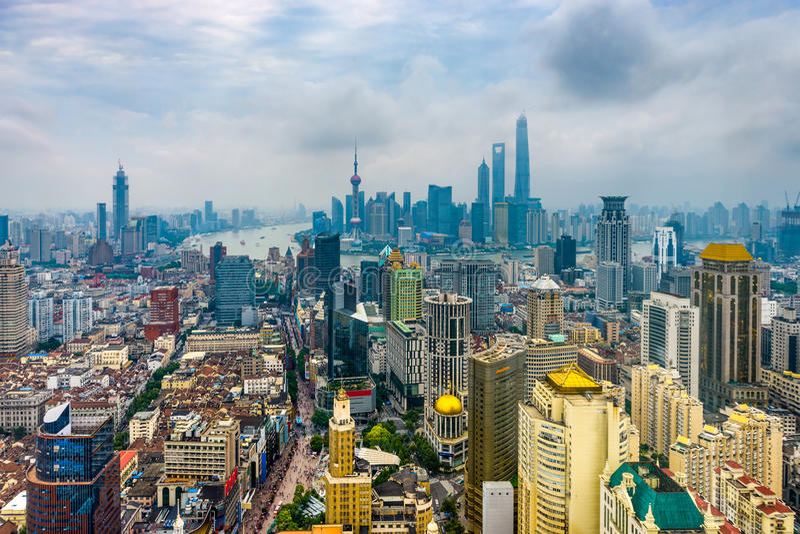 Vista aerea di Shanghai, Cina immagini stock