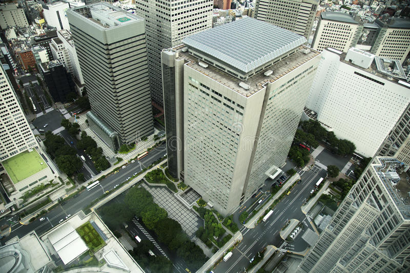 Vista aerea di skycraper a Tokyo, Giappone immagine stock
