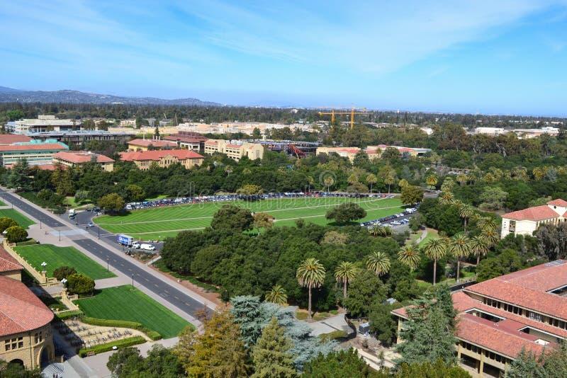 Vista aerea di Stanford University fotografia stock libera da diritti