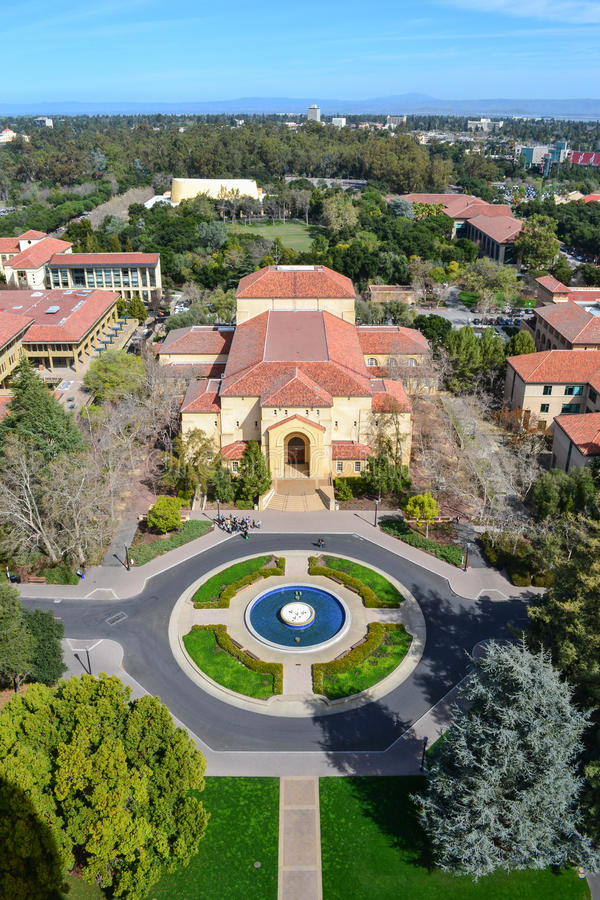 Vista aerea di Stanford University immagine stock libera da diritti
