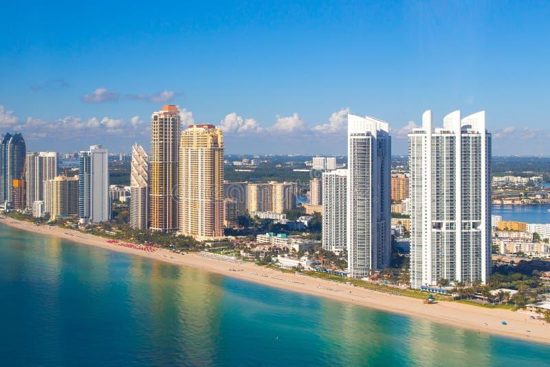 Vista aerea di Sunny Isles Beach immagini stock