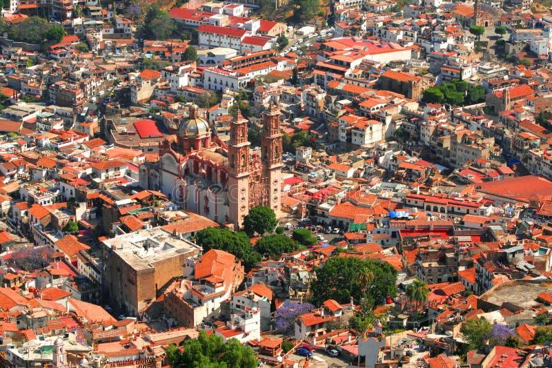 Vista aerea di Taxco immagini stock libere da diritti