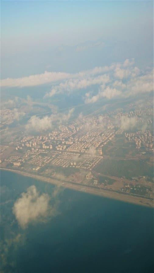 Vista aerea di Tel Aviv in Israele fotografia stock