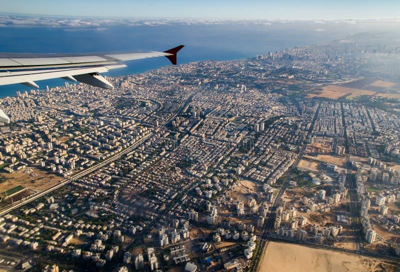 Vista aerea di Tel Aviv l'israele fotografia stock
