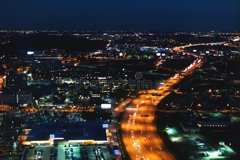 Vista aerea di traffico outsided di Chicago immagini stock