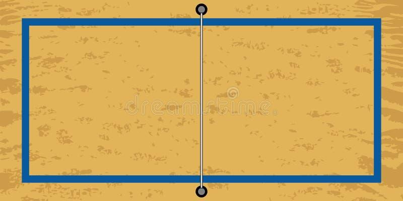 Vista aerea di un campo di beach volley illustrazione vettoriale
