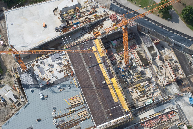 Vista aerea di un cantiere fotografia stock libera da diritti