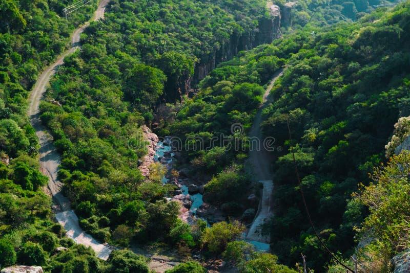 Vista aerea di un fiume fotografia stock