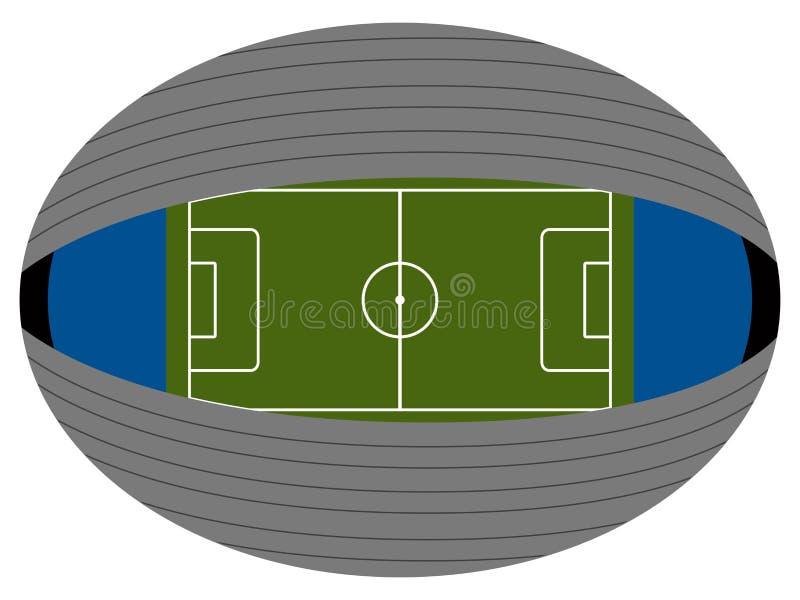Download Vista Aerea Di Uno Stadio Di Calcio Illustrazione Vettoriale - Illustrazione di arena, isolato: 117979843
