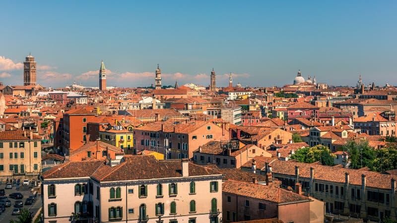 Vista aerea di Venezia, Italia fotografia stock