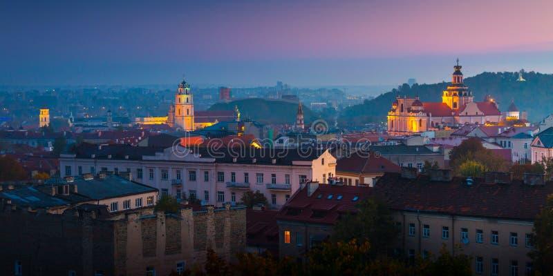 Vista aerea di Vilnius, Lituania fotografia stock libera da diritti