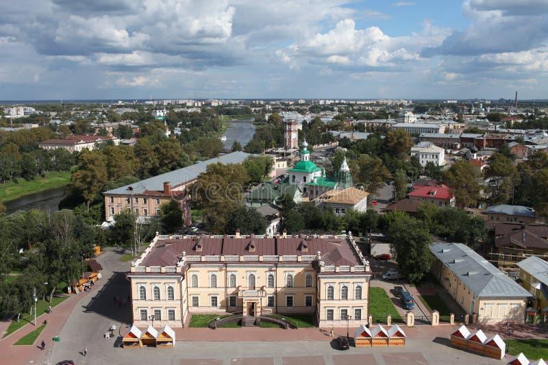 Vista aerea di Vologda immagini stock