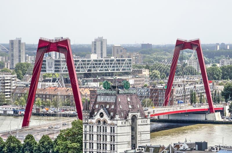 Vista aerea di Willems Bridge fotografia stock