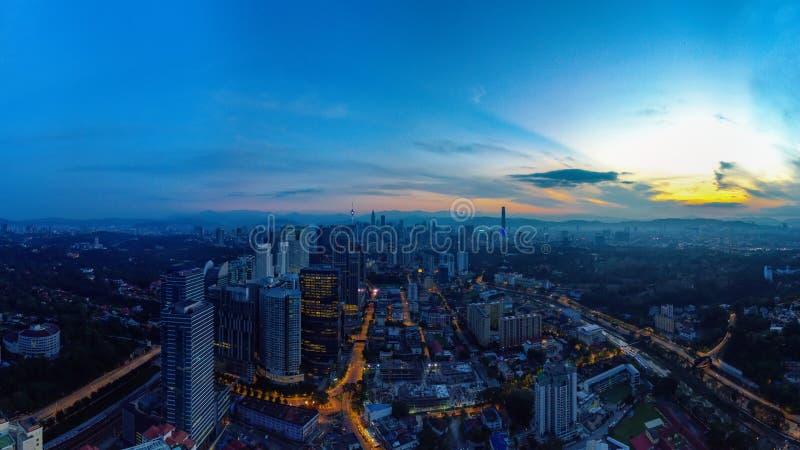 Vista aerea panoramica di Kuala Lumpur immagini stock