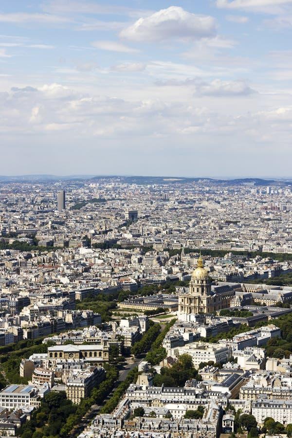 Vista aerea Parigi, Francia da Montparnasse fotografia stock