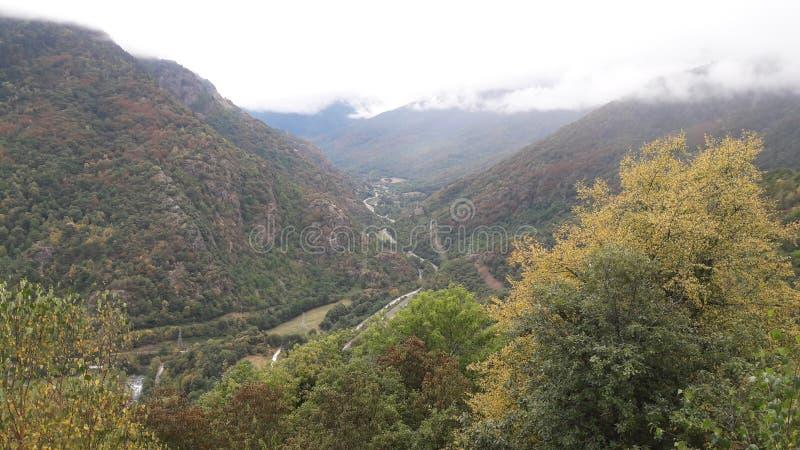 Vista aerea in Pirenei fotografie stock