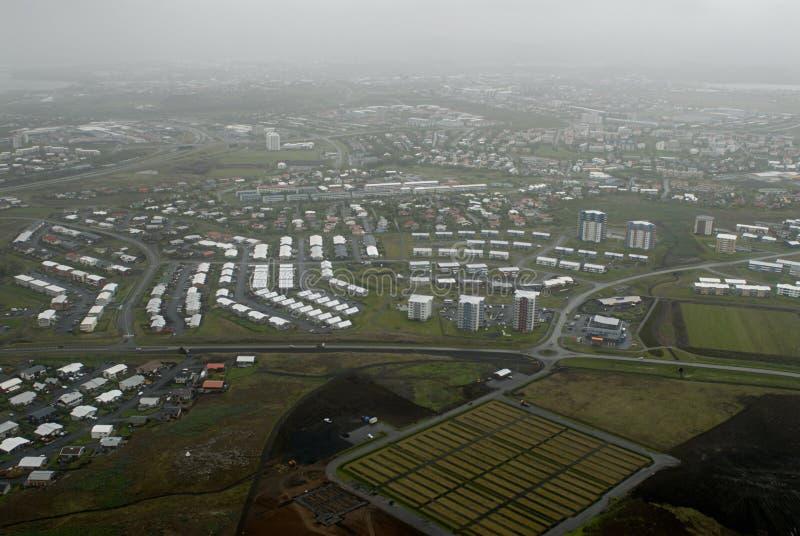 Vista aerea a Reykjavik fotografia stock