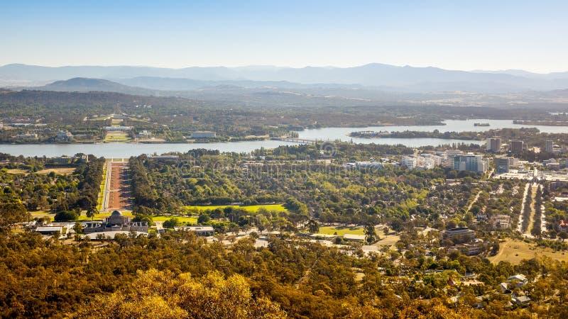 Vista aerea sopra Canberra immagine stock libera da diritti