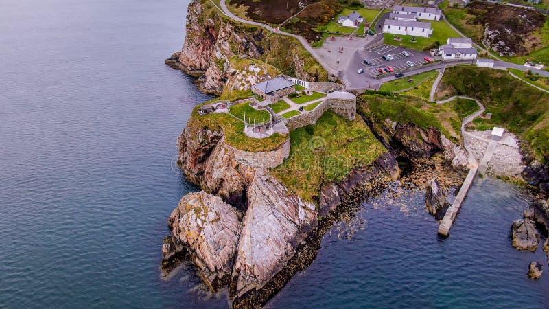 Vista aerea sopra Dunree forte in Irlanda fotografie stock