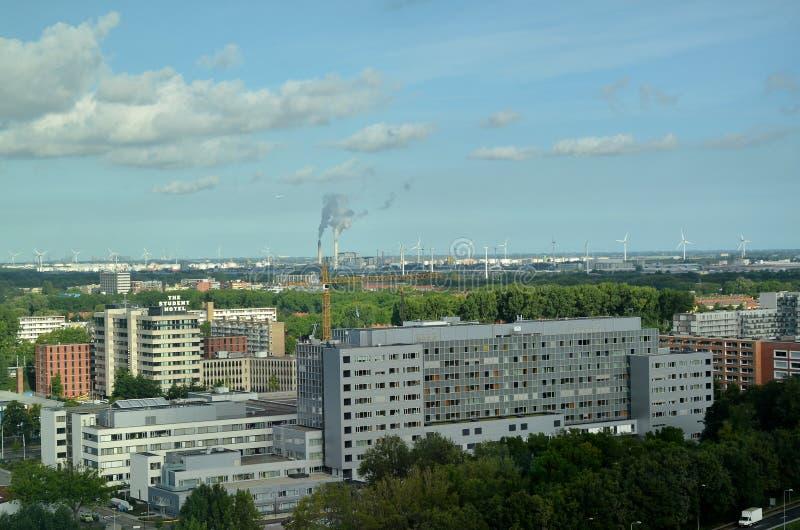 Vista aerea sopra la città di Amsterdam immagine stock