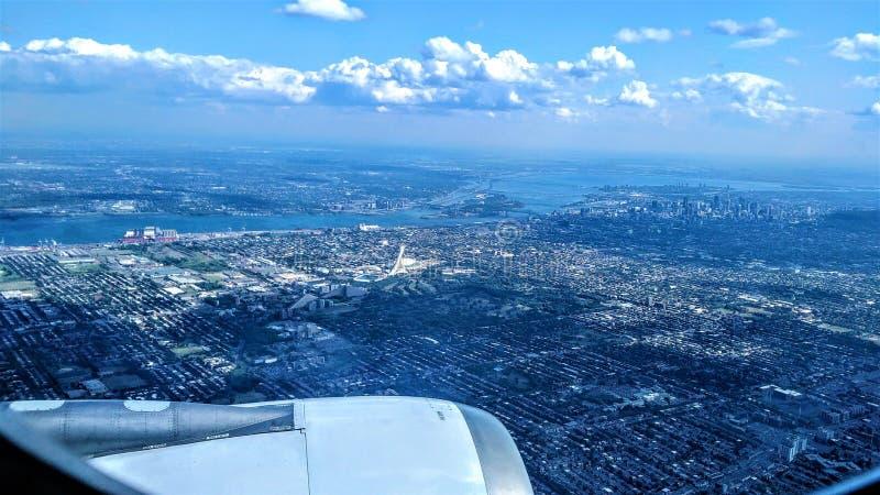 Vista aerea sopra Montreal fotografia stock libera da diritti