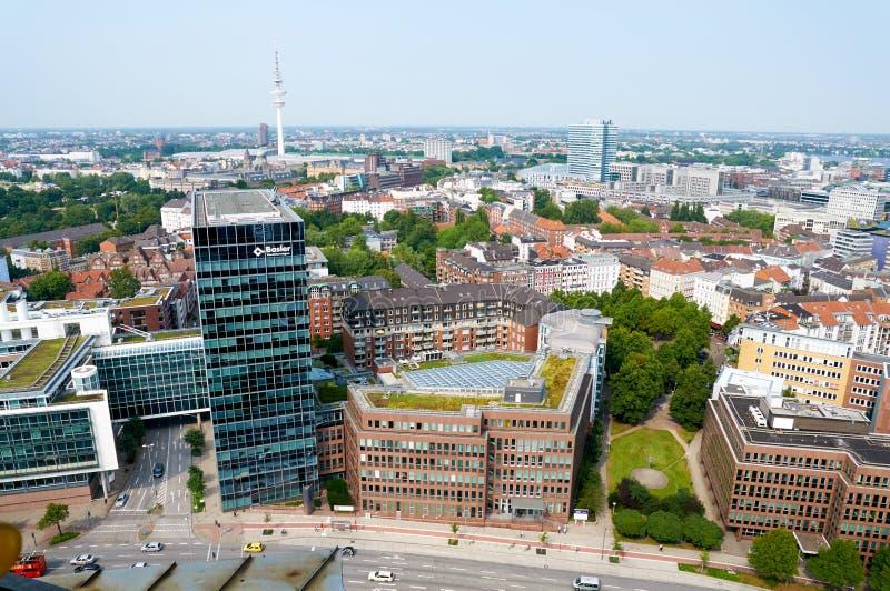 Vista aerea su Amburgo germany immagini stock libere da diritti