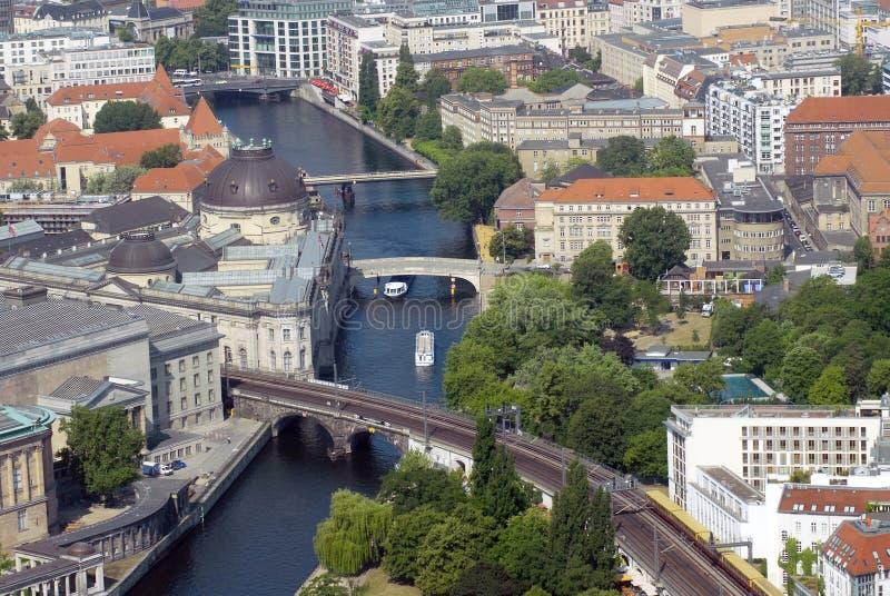 Vista aerea su Berlino fotografia stock libera da diritti