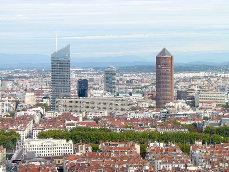 Vista aerea su La Lione parzirice-Dieu Francia fotografia stock libera da diritti