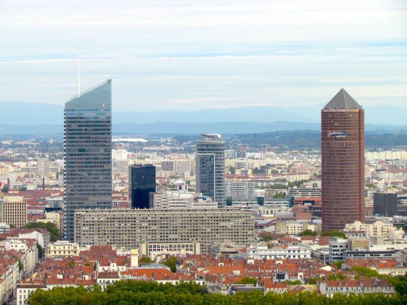 Vista aerea su La Lione parzirice-Dieu Francia immagini stock libere da diritti