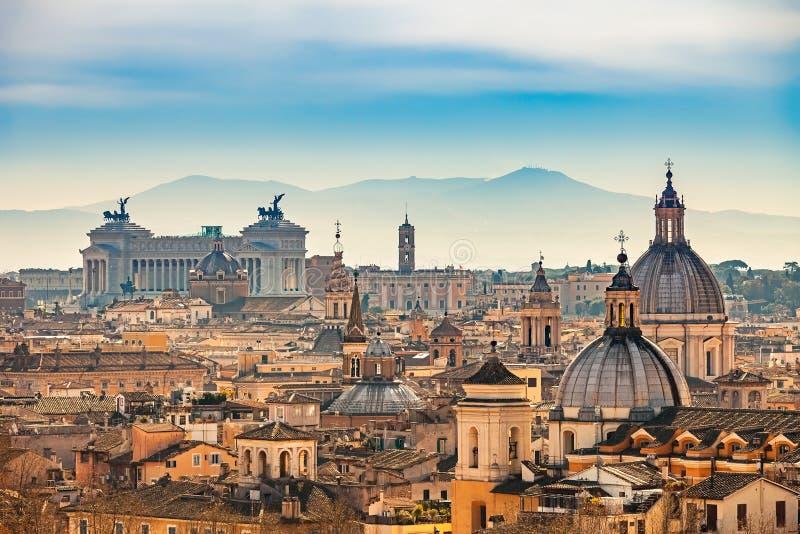 Vista aerea su Roma, Italia immagine stock