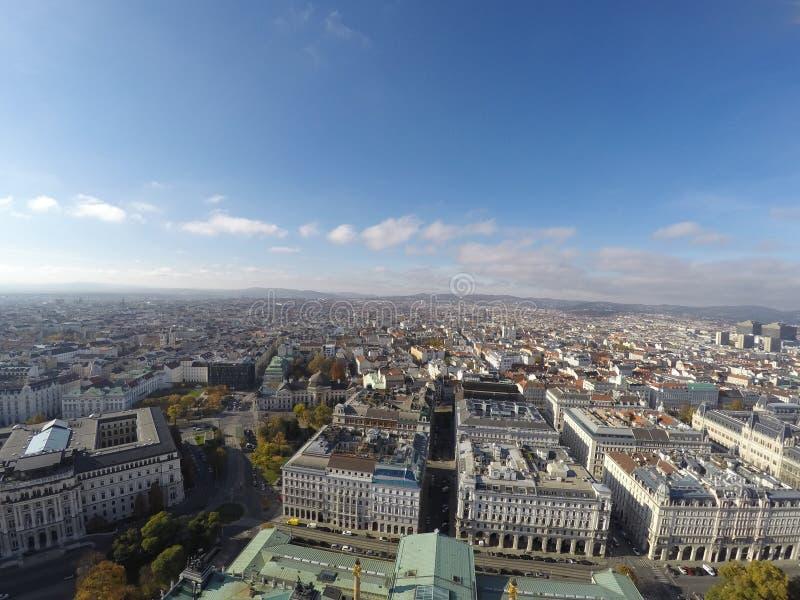Vista aerea su Vienna immagini stock libere da diritti