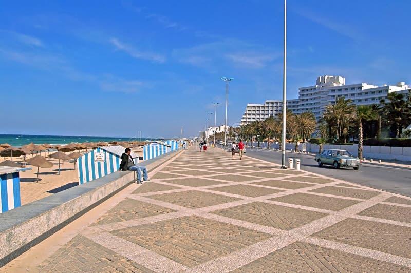 Vista agradable del terraplén en Sousse, Túnez fotos de archivo