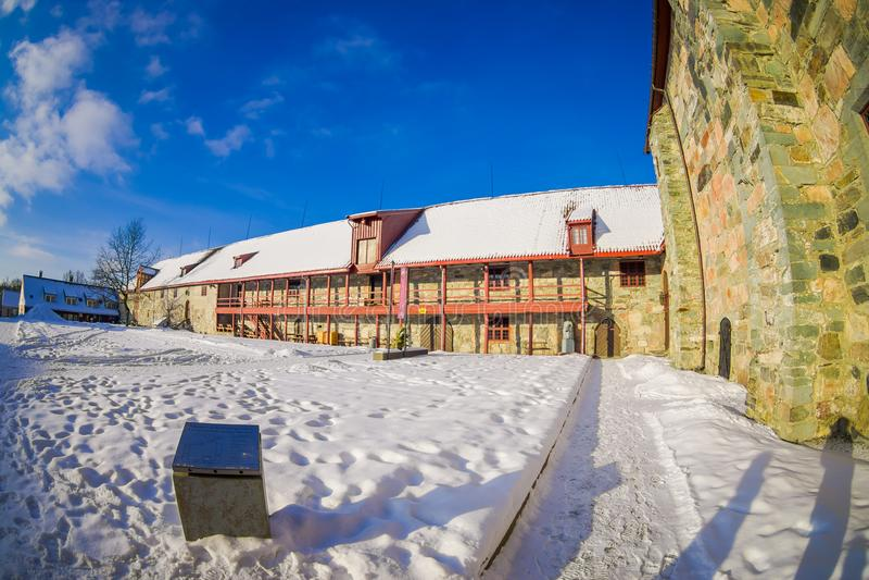 Vista al aire libre del museo de la música de Ringve en Strondheim, Noruega fotografía de archivo libre de regalías