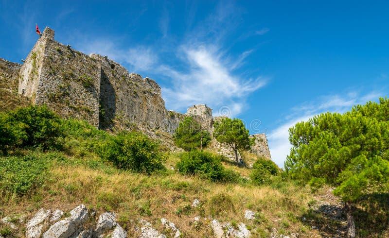 Vista al castello di Rozafa immagini stock libere da diritti