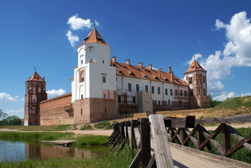 Vista al castillo imágenes de archivo libres de regalías