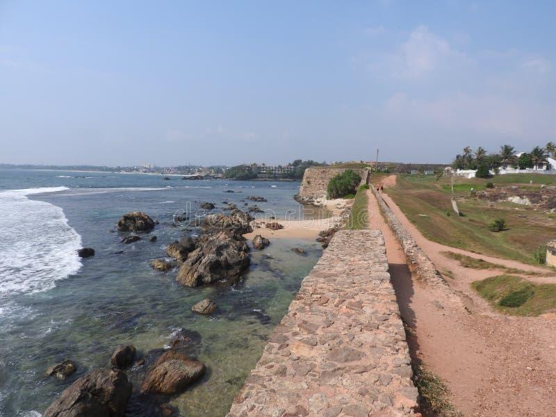 Vista al Faro en Galle, Sri Lanka imágenes de archivo libres de regalías