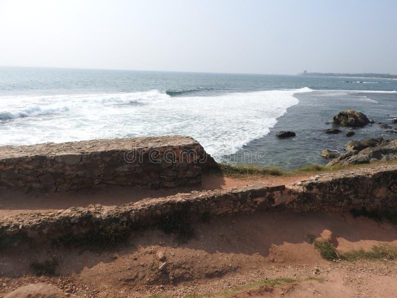 Vista al Faro en Galle, Sri Lanka imagen de archivo libre de regalías