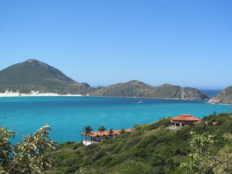 Vista al mar azul fantástica fotografía de archivo
