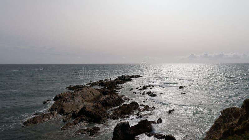 Vista al mar de Bretaña Francia fotos de archivo