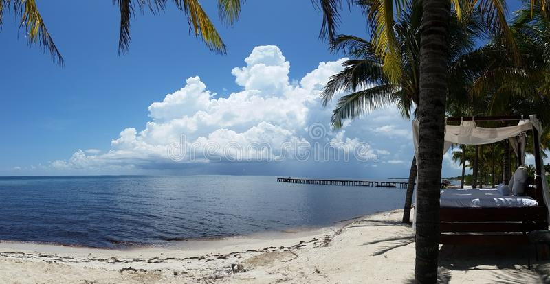 Playa del carmen mexico panorama royalty free stock images
