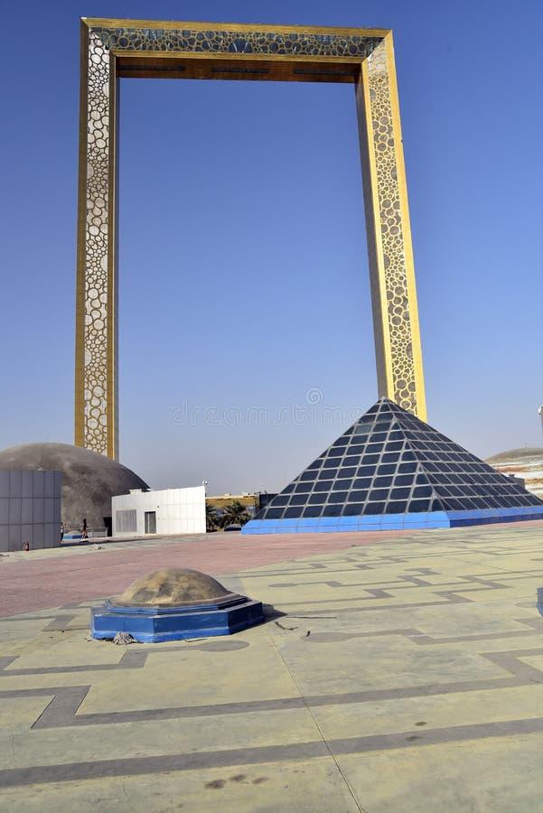 Vista al parque Zabeel, Dubai, Emiratos Árabes Unidos fotografía de archivo libre de regalías
