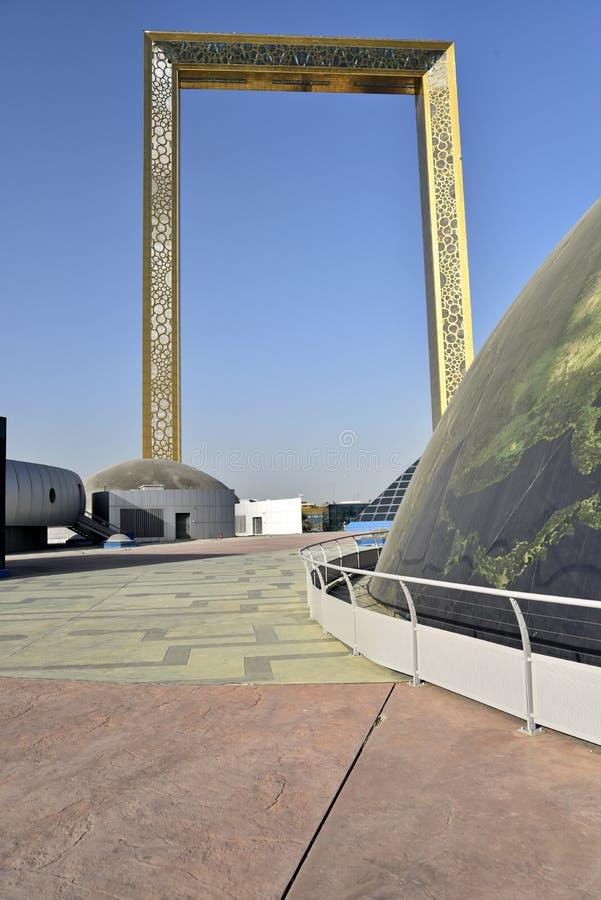 Vista al parque Zabeel, Dubai, Emiratos Árabes Unidos fotos de archivo libres de regalías
