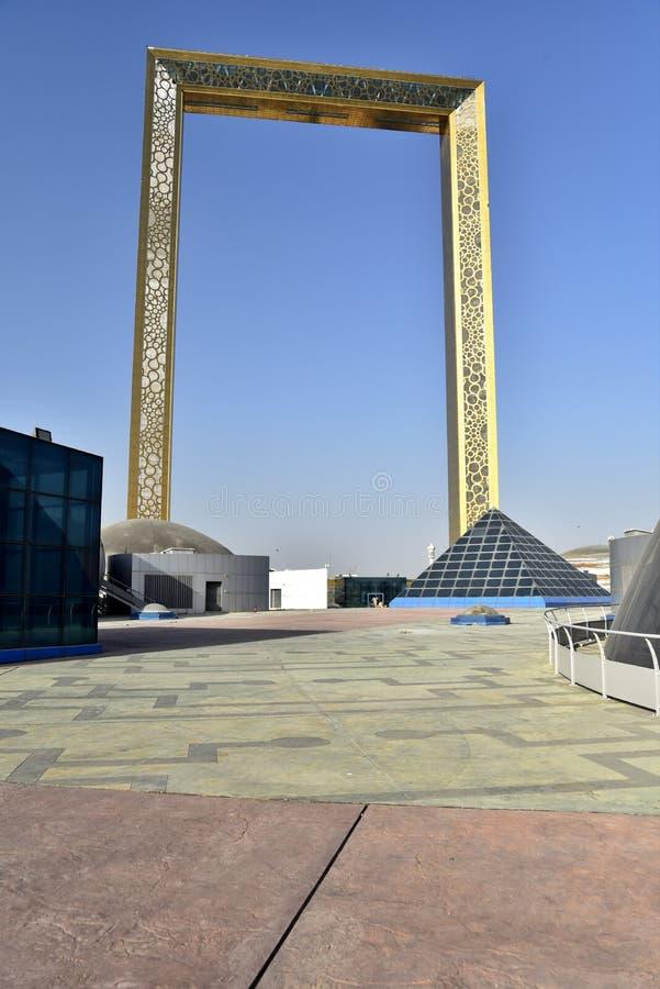 Vista al parque Zabeel, Dubai, Emiratos Árabes Unidos imágenes de archivo libres de regalías