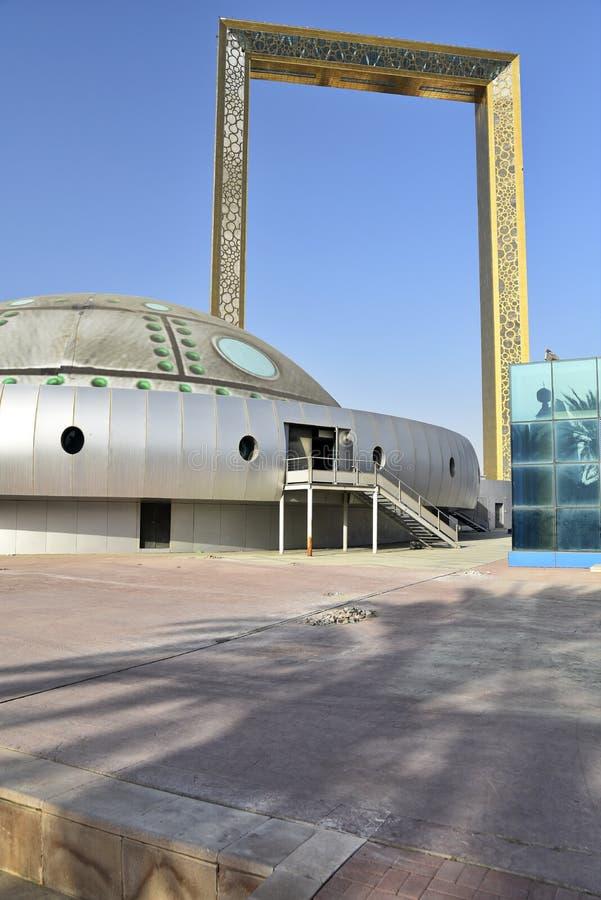 Vista al parque Zabeel, Dubai, Emiratos Árabes Unidos imagen de archivo libre de regalías