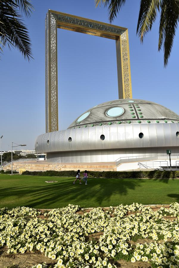 Vista al parque Zabeel, Dubai, Emiratos Árabes Unidos foto de archivo libre de regalías