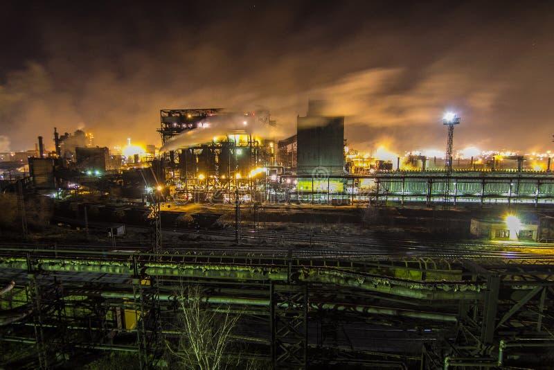 Vista all'acciaieria di Magnitogorsk fotografia stock libera da diritti