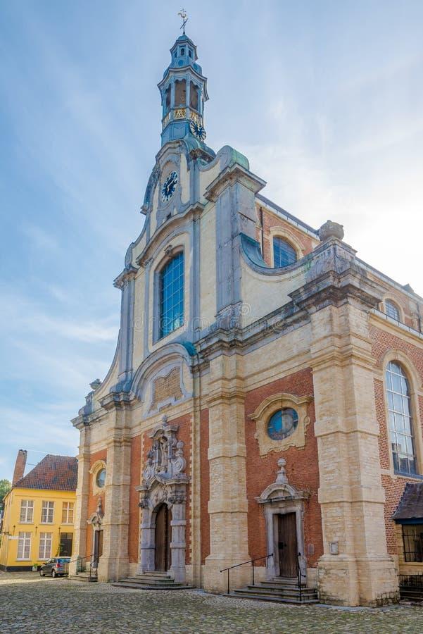Vista alla chiesa del san Margaretha Lier - nel Belgio fotografia stock